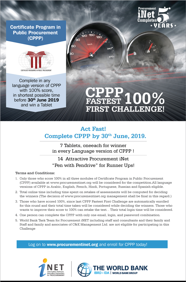 CPPP Fastest 100% Challenge Launched