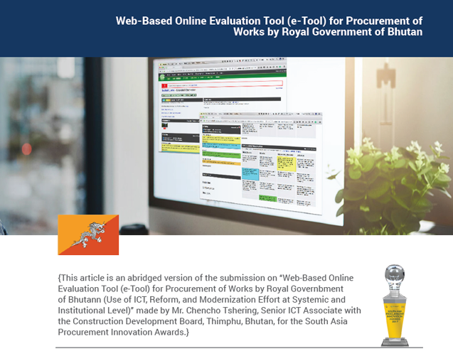 Web-Based Online Evaluation Tool (e-Tool) for Procurement of Works by Royal Government of Bhutan